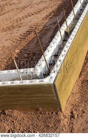 An Energy Efficient Insulated Concrete Foundation Work In Progress.