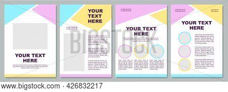 Creative Unique Brochure Template. Kindergarten Service. Flyer, Booklet, Leaflet Print, Cover Design