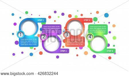 Multicolor Company Vector Infographic Template. Project Presentation Design Elements With Text Space