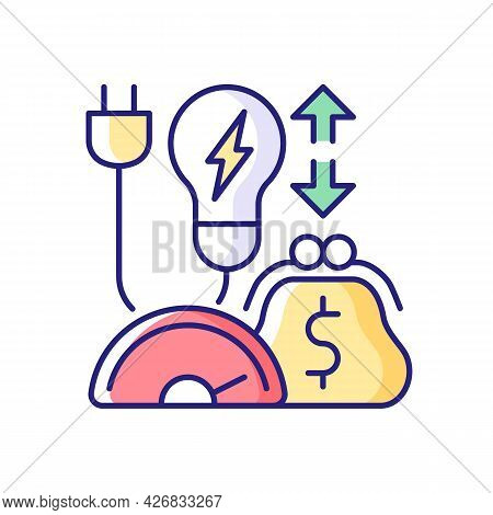 Energy Efficiency Program Rgb Color Icon. Policy For Purchasing Electrical Power. Resource Supply Co