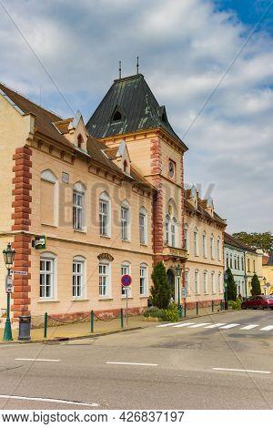Lednice, Czech Republic - September 17, 2020: Historic Town Hall Building Of Lednice, Czech Republic