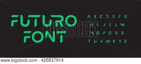 Future Font Alphabet. Minimal Science Fiction And Futuristic Letters. Smart Space Typographic Design