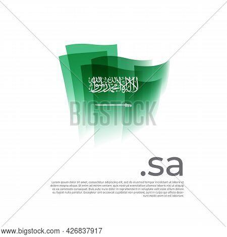 Saudi Arabia Flag. Stripes Colors Of The Saudi Arabian Flag On A White Background. Vector Flat Desig