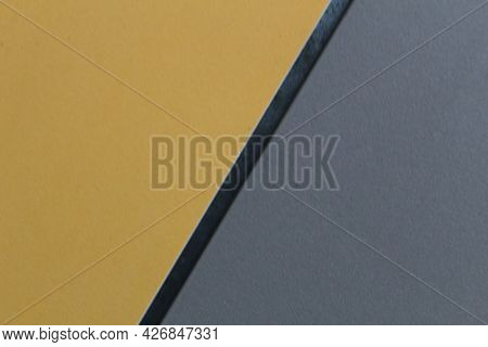 Yellow Gray Out With A Black Stripe Half A Third Diagonally Goriontali Vertical Background