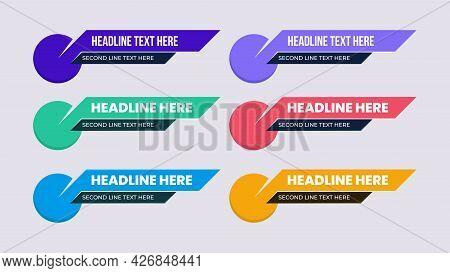 Lower Third Best Design With Trendy Shape And Color. Twitch Overlay Title, Headline, News, Reporter,