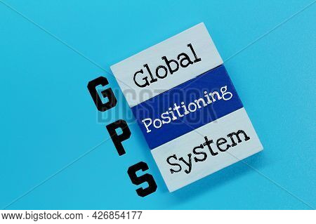 Colored Blocks With The Letters Gps And The Words Global Positioning System
