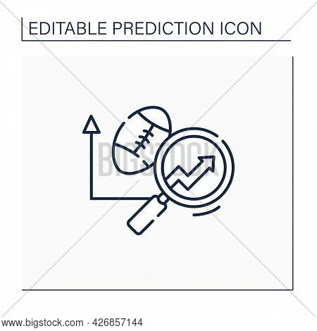 Sports Predictive Analytics Line Icon. Sports Betting. Team Rankings. Business Predicting Concept.is