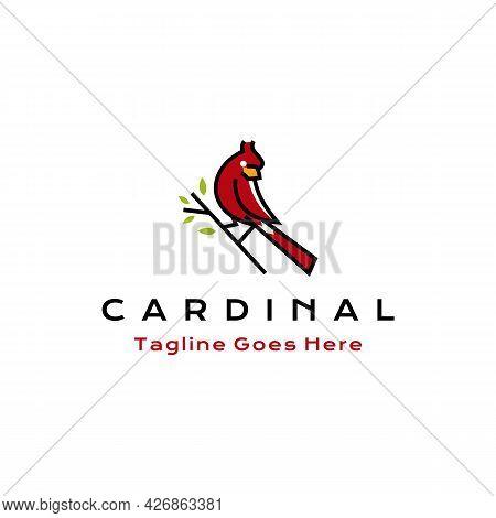 Cardinal Bird Logo Icon Design Vector Illustration