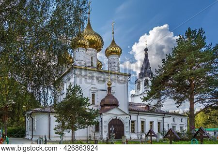 Cathedral Of The Life-giving Trinity. In Monastery Near Nerekhta, Russia