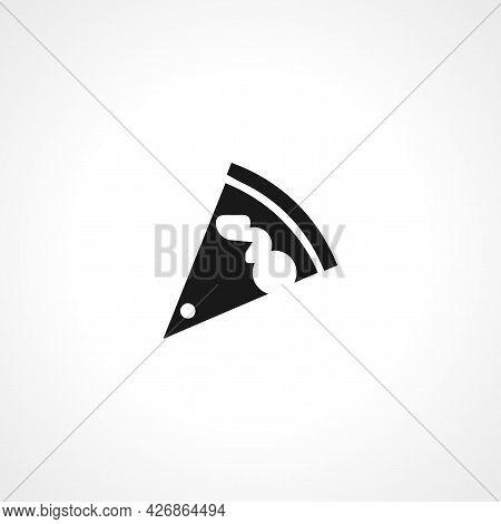 Pizza Slice Icon. Pizza Slice Isolated Simple Vector Icon