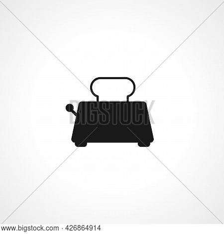 Toaster With Bread Icon. Toaster With Bread Isolated Simple Vector Icon