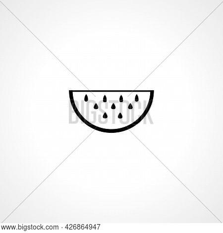 Watermelon Icon. Watermelon Isolated Simple Vector Icon
