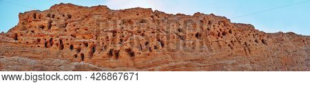 A Mountain Of Quarry And River Sand, In Which The Birds Made Nests. Mountain, Canyon, Nesting Place