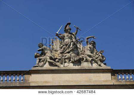 Closeup of Brandenburg gate