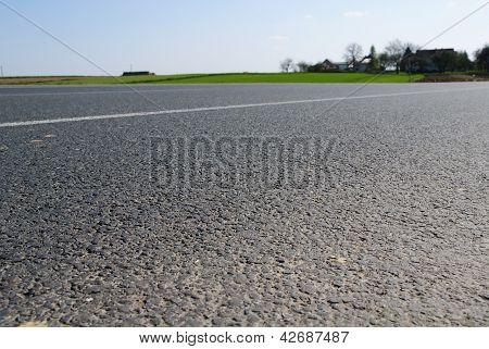 Closeup to asphalt