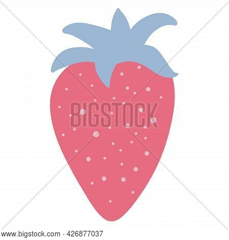 Strawberry Vector Illustration Of Strawberries Isolated On A White Background.