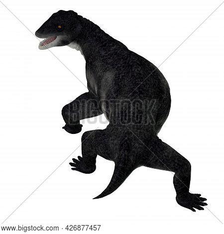 Delphinognathus Synapsid Tail 3d Illustration - Delphinognathus Was A Synapsid Herbivorous Animal Th