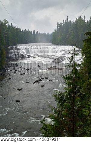 Dawson Falls Wells Gray Park Bc Vertical. Dawson Falls In Canada's Wells Gray Provincial Park.