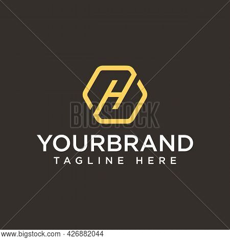 Letter H Hexagonal Technology, Initial Logo Design Hexagon Monogram Lettering Designs Hexagon Simple