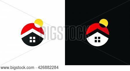 Unique And Modern House Logo Illustration Design