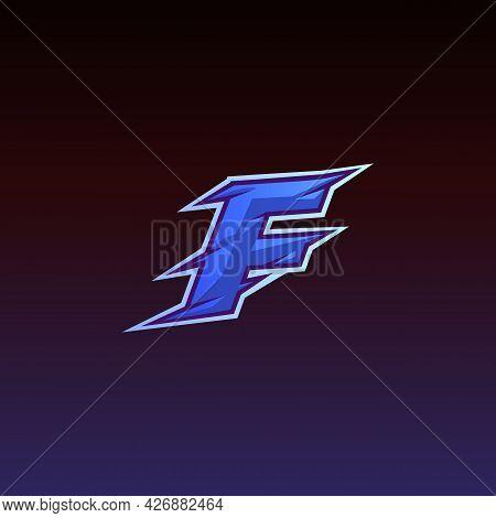 Letter F Game Logo E Sport Gaming Vector Illustration