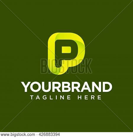 P Gradient Vector Logo Icon Template Illustration