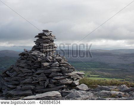 Rock Cairn Overlooking The Burren, Co Clare