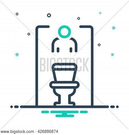 Mix Icon For Restroom Bathroom Washroom Sanitary Toilet Lavatory Hygiene Comfort Unisex