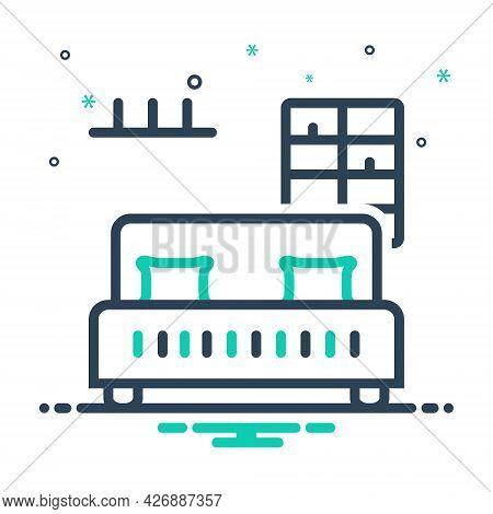 Mix Icon For Bedroom-bar Bedroom Bar Dorm Dormer Furniture Living-room Sleep Dormitory Hostel Reside