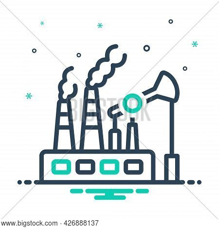 Mix Icon For Fossil-fuels Fuel Pump Environment Biofuel Power Pollution Gasoline Ecology Smoke