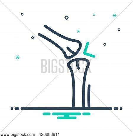 Mix Icon For Joint Arthritis Rheumatism Gout Arthralgia Pain Osteoarthritis Knee Medical Cartilage B