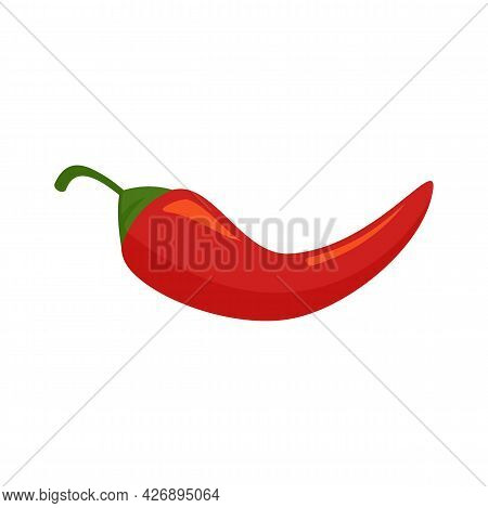 Chili Pepper Icon. Flat Illustration Of Chili Pepper Vector Icon Isolated On White Background