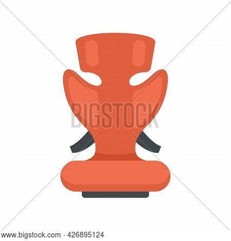 Care Baby Car Seat Icon. Flat Illustration Of Care Baby Car Seat Vector Icon Isolated On White Backg