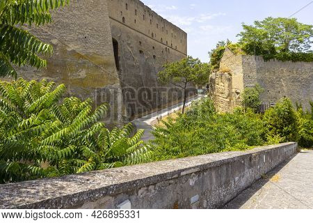Castel Sant'elmo, Medieval Fortress Located On Vomero Hill, Naples, Italy. The Castle Is Adjacent To