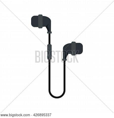 Digital Wireless Earbuds Icon. Flat Illustration Of Digital Wireless Earbuds Vector Icon Isolated On