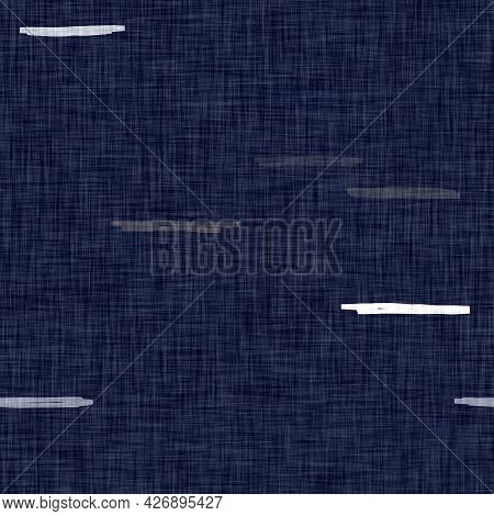 Masculine Mottled Dyed Linen Seamless Pattern. Fun Retro Washed Out Design For Fashion And Repeatabl