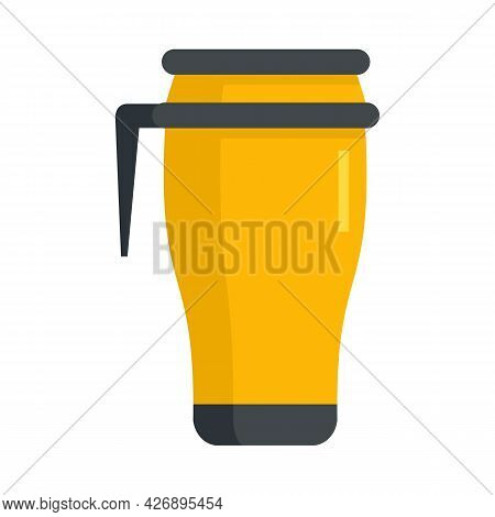 Metal Vacuum Cup Icon. Flat Illustration Of Metal Vacuum Cup Vector Icon Isolated On White Backgroun