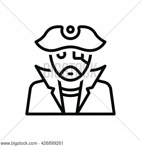 Black Line Icon For Pirates Corsair Rover Nomad Sea-rover Filibuster Picaroon Freebooter