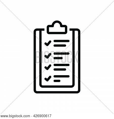 Black Line Icon For Guidelines Guidance Pilotage Instruction Program List Rules