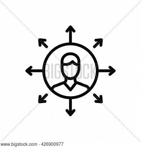 Black Line Icon For Challenges Dare Provocation Compete Contend Face Rival