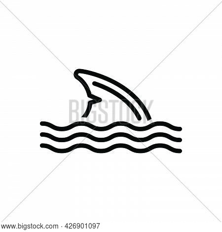 Black Line Icon For Fin Feather Wing Flipper Plume Pinna Shark
