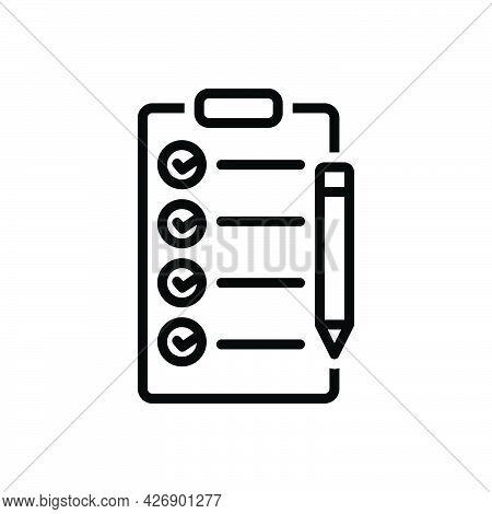 Black Line Icon For Rules Condition Checklist Term Prescript Agreement Document