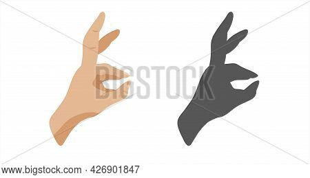 A Hand In The Position Of A Bunny, A Shadow On The Wall In The Form Of A Bunny On The Wall. Playing