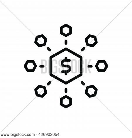 Black Line Icon For Meets Combine Adjoin Converge Conjoin Gather