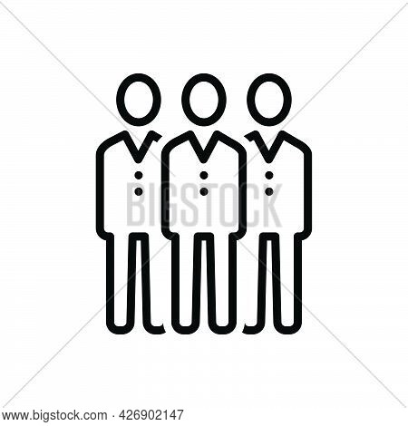 Black Line Icon For Mens Person Human Fellow Guy Mr Friend