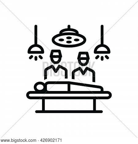 Black Line Icon For Operated Surgery Hospital Room Diagnosis Operation-theater Doctor