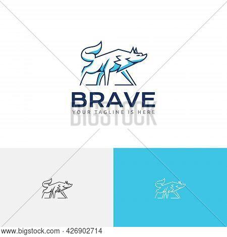 Brave Beast Alpha Wolf Wild Wildlife Logo