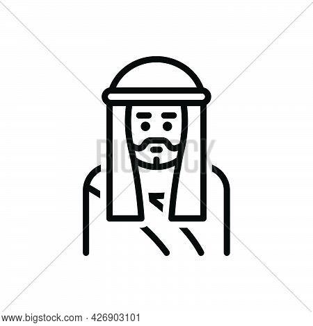 Black Line Icon For Joseph Chief-joseph Saint Faith Father Catholic Christian