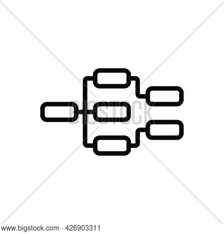 Black Line Icon For Threads Thread Conversation-thread Online-list Email List Mail Digital Mailing