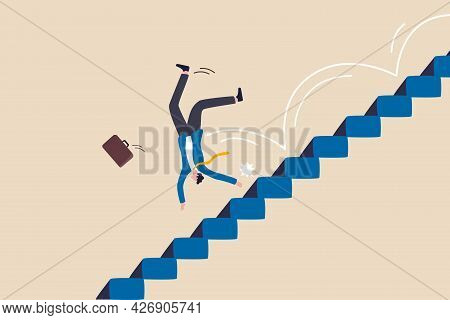 Business Risk, Mistake Or Failure, Challenge Or Problem And Difficulty, Accident Causing Bankruptcy